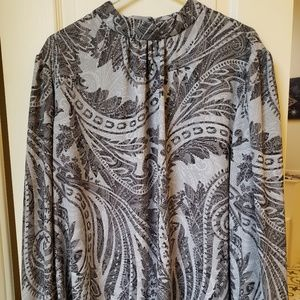 Grey patterned long sleeve shirt - CATO 22/24W